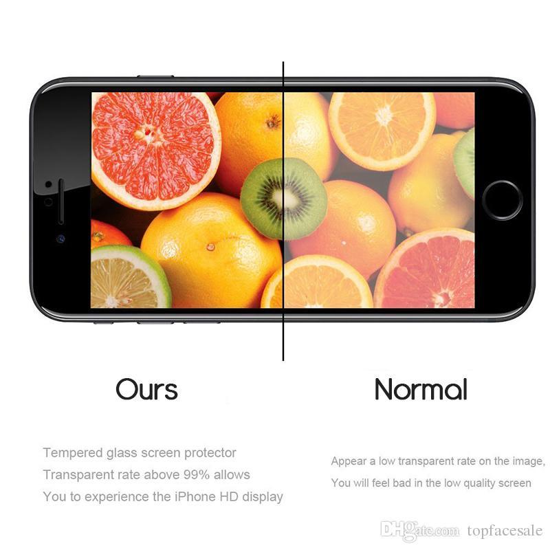 Volle Kleber EDGE EDGE Qualität Ausgeglichenes Glas 5D vollständige Abdeckung Displayschutzfolie Xs Xr X 8 7 6D für iPhone 11 pro max Vorder- und Rückseite