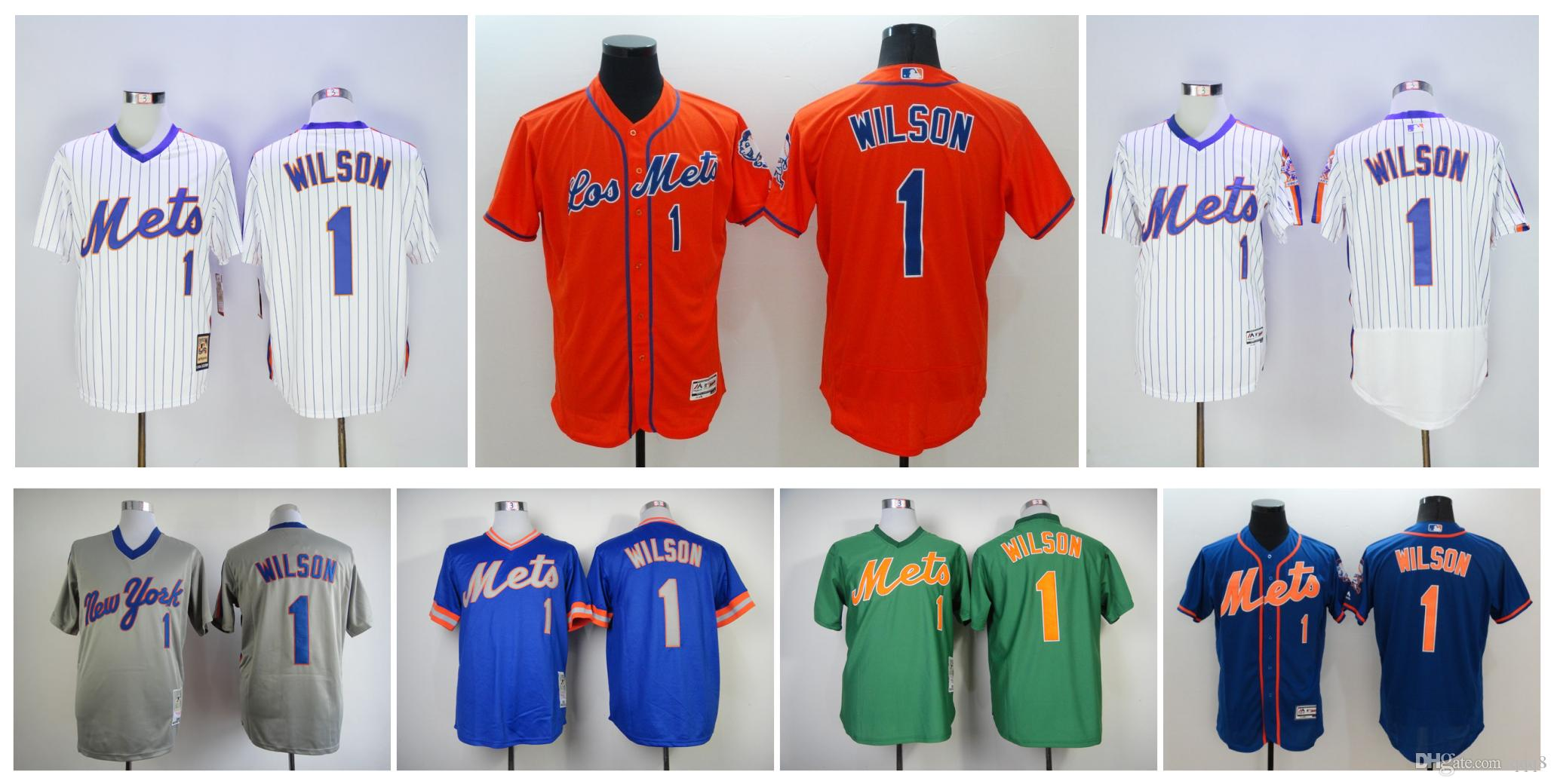 promo code 12df6 8a149 new york mets 1 mookie wilson 1983 blue throwback jersey