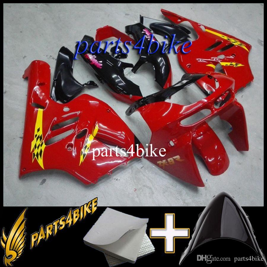 Aftermarket Plastic Fairing for Kawasaki ZX9R 94 97 ZX-9R 1994-1997 94 95 96 97 red Motorcycle Body Kit