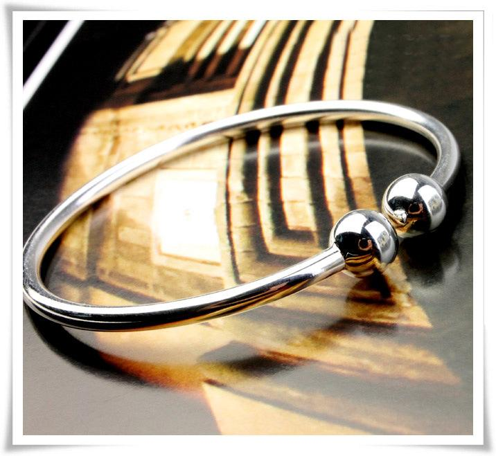 New Silver Bohemia Bangles 30% 925 Sterling Silver Women White Gold Plating Wedding Bracelet Bangle Jewelry Hot selling