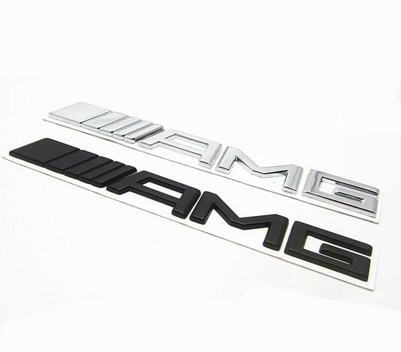 Metal Black Silver Chrome 3M AMG Decal Sticker Logo Emblem New Hot Good quality Car Badges