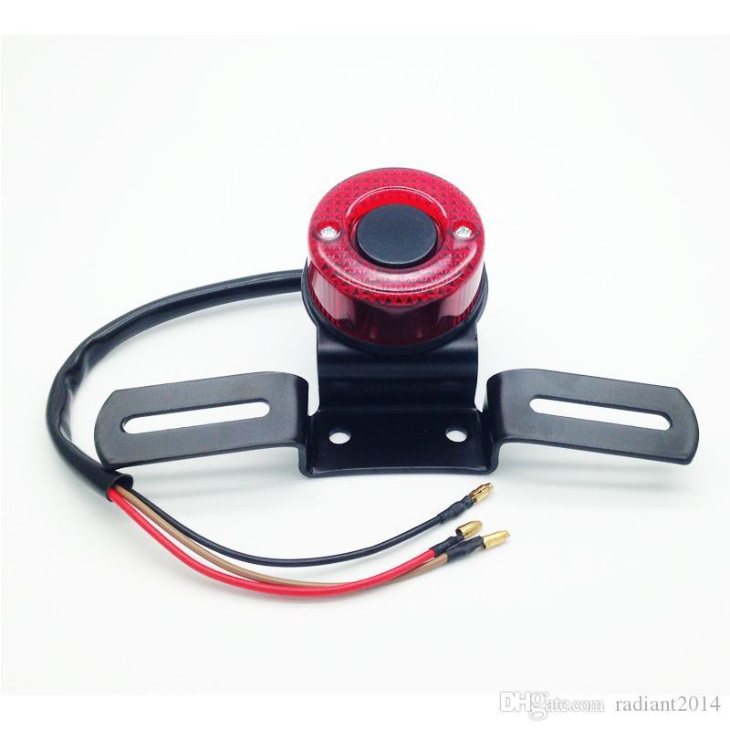 오토바이 어셈블리 하리 초퍼 라운드 테일 라이트 사용자 정의 Bobber 카페 레이서 뒷 면허 브레이크 테일 라이트 램프