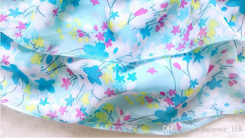 2017 neuheiten heißer verkauf mädchen kinder bikini sommer mädchen little folwers printting kleine frische sling zwei badeanzug versandkostenfrei