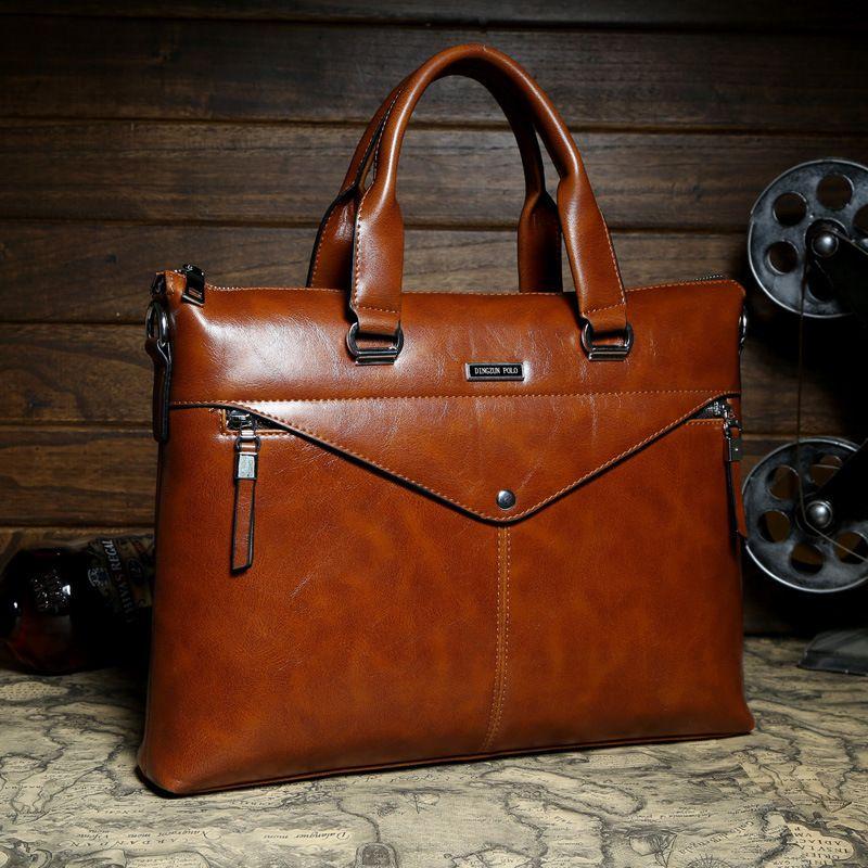 486f159447 Wholesale 2015 Mens Casual Briefcase Business Shoulder Bags POLO Men  Messenger Bags Tote Designer Computer Laptop Genuine Leather Bag Tote Designer  Handbags ...
