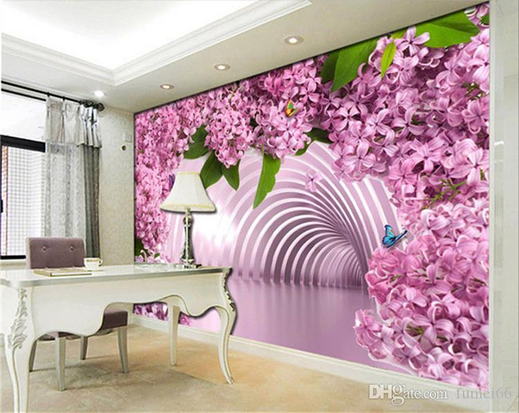 3d stereo living room is seamless and large mural TV set wall wallpaper and simple dream spend bedroom wall