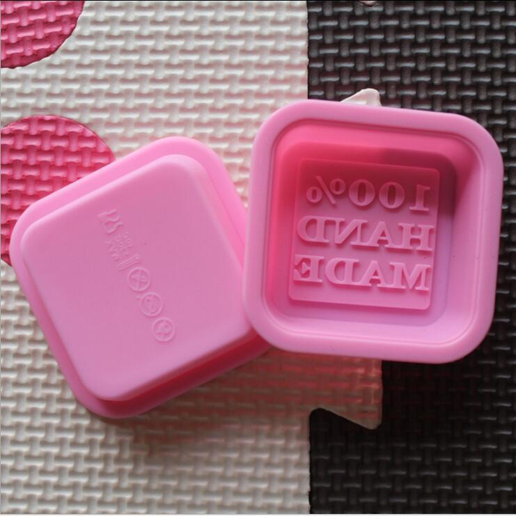 hopestar168 delicato Carino mestieri Arte Piazza del forno del silicone sapone Handmade muffe fai da te Sapone stampo di cottura modella il colore casuale