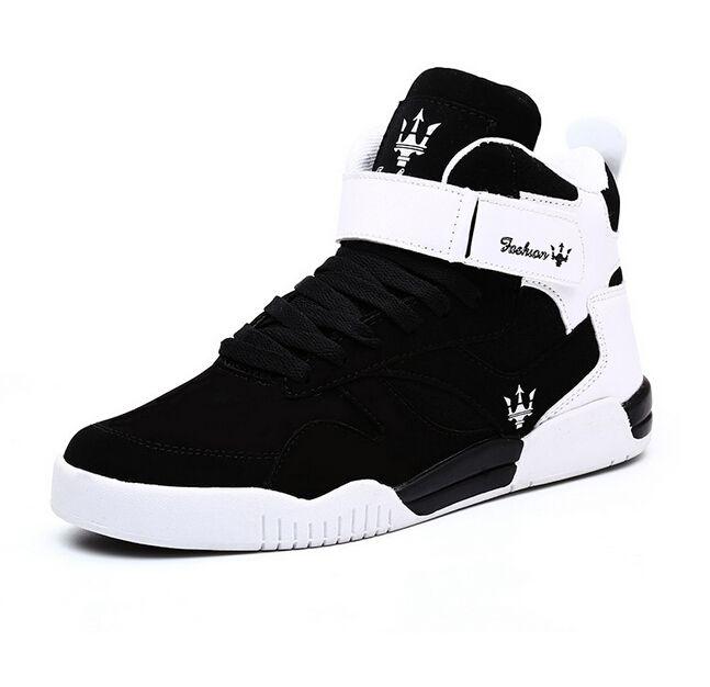 8e80e992b15e Satın Al Sıcak Satış Katı Renk Hip Hop Ayakkabı Erkekler Beyaz Dans  Ayakkabıları Platformu Yüksek Artan Erkekler Yüksek Üstleri Sapatos  Masculinos Artı ...