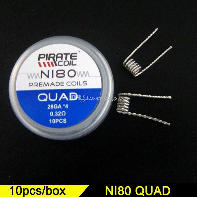 Großhandel Ni80 Quad Wire Fused Clapton Spulen Bienenstock Premade ...