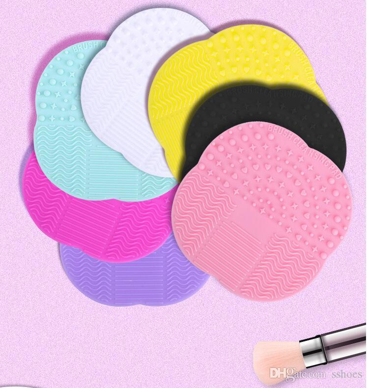 silicone makeup brush cleaner. silicone makeup brush cleaning mat washing tools hand tool pad sucker scrubber board cosmetic cleaner cases e