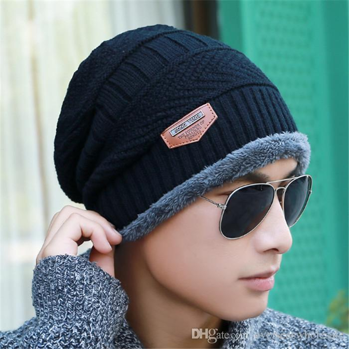 2017 New Knitted Winter Hat Scarf Beanies Knit Men S Winter Hats Caps  Skullies Bonnet For Men Women Beanie Casual Neck Warmer Stocking Cap Baby  Sun Hat From ... 6e792ebc6d3