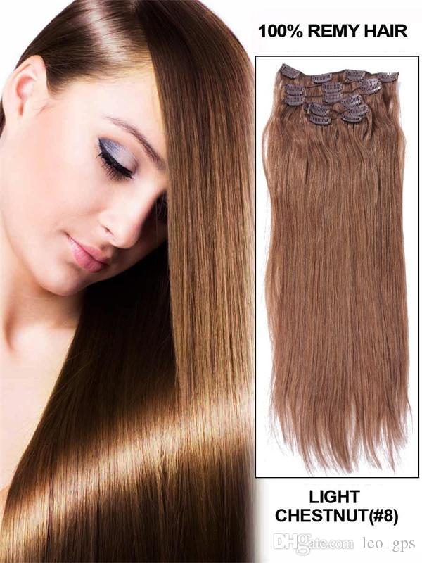 70gfull head clip in hair extensions remy human hair extension 08 70gset full head clip in hair extensions remy human hair extension 08 lightest pmusecretfo Choice Image