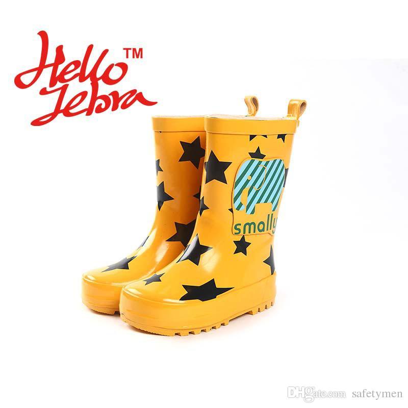 2018 children cartoon rain boots kids boys girls babies toddle cute