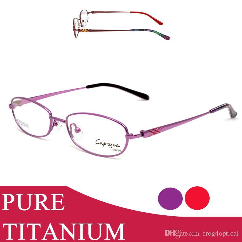 Compre Anteojos Gafas Graduadas Marcos Mujeres Gafas Pure Titanium ...