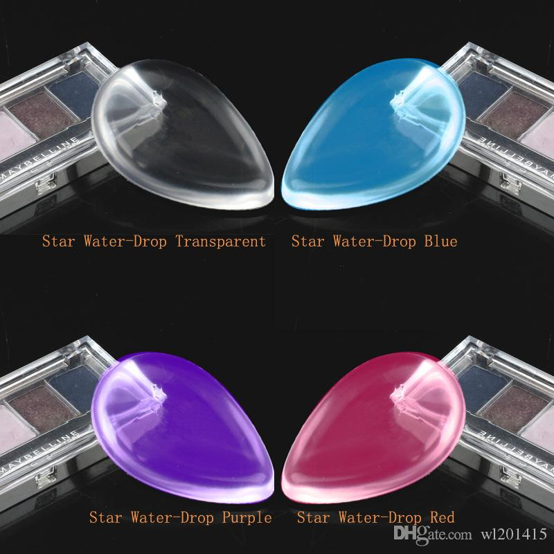 Transparent silicone makeup sponges face foundation tool jelly powder puff artifact BB cream foundation puff TM-SP005