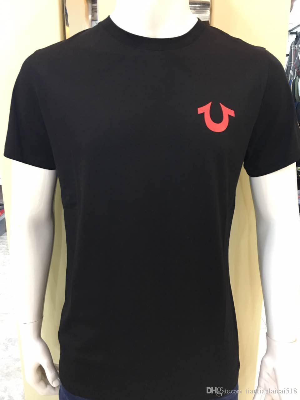 Hohe Qualität USA Rot Schwarz Weiß Herren Robin True Jeans Crew-Polo-Jacke Mit Flügeln Real American Jeans Club Schlank Mantel T-Shirt