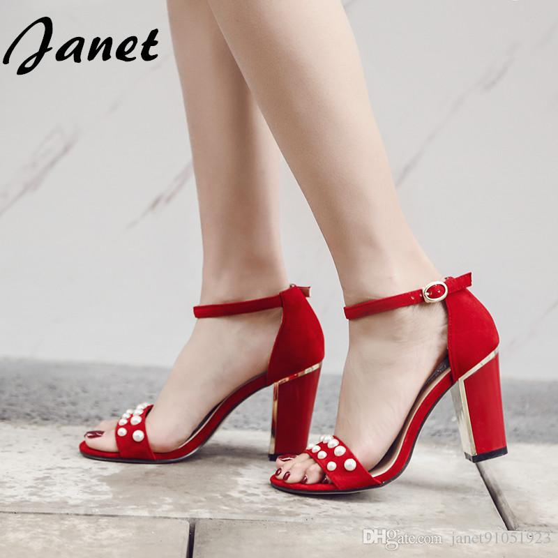 2017 Summer Sandal High Heels Black Women New Style Summer Sandals ...
