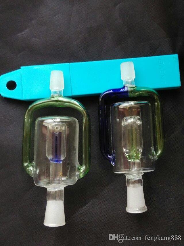 Filteradapter Bongs Zubehör, Glas Rauchpfeifen bunte Mini Multifarben Handpfeifen Beste Löffel Glas