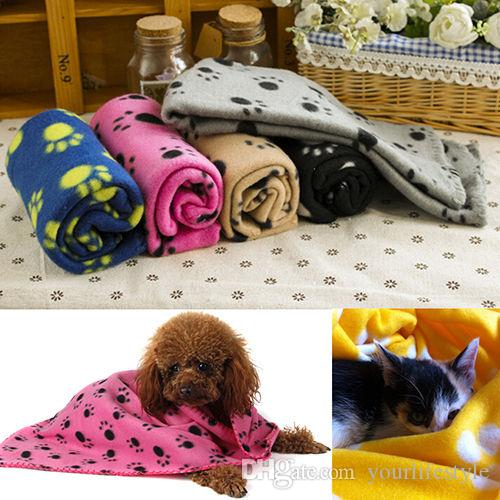 Pet Blankets Paw Prints Blankets for pet cat and dog Soft Warm Fleece Blankets Mat Bed Cover