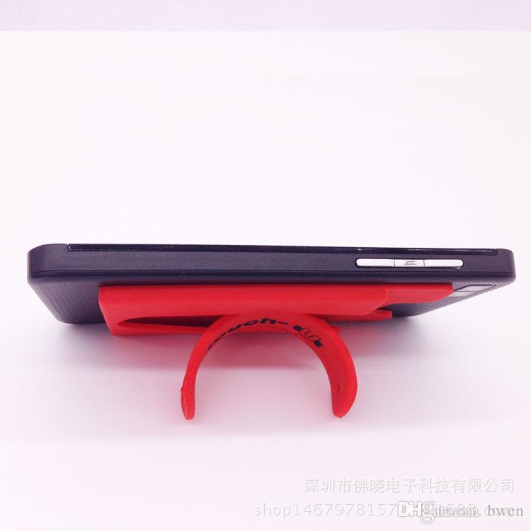 New Korea 3 M U-type mobile phone stent bank bus card holder bracket can be printed logo custom