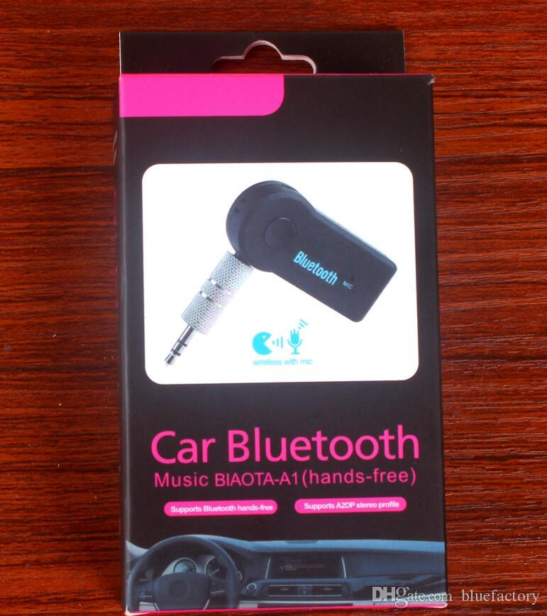 Car Bluetooth Hands Free Wireless Music Receiver 3.5mm Streaming Aux Connect EDUP V 3.0
