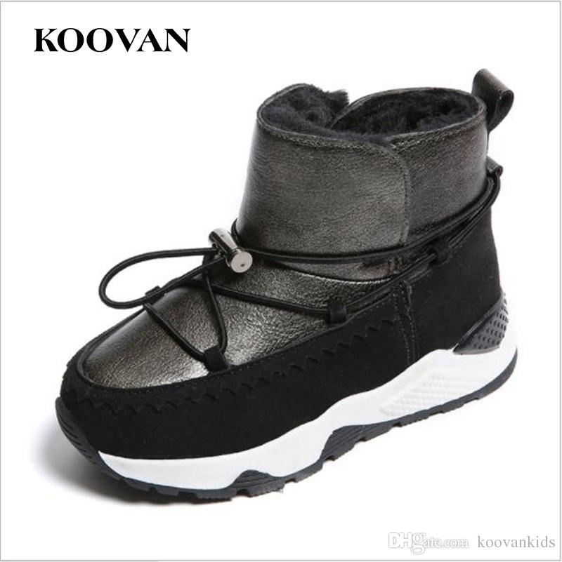 3ee16d0ed39079 Koovan Snow Boots Kids Cotton Shoes 2017 Winter Thick Bottom Boy ...