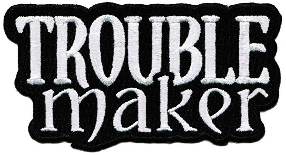 Personalizado O Barato Baixo Preço Com O Fabricante De Problemas Remendo Bordado Rebelde Ferro-Em Logotipo Perigoso Frete Grátis