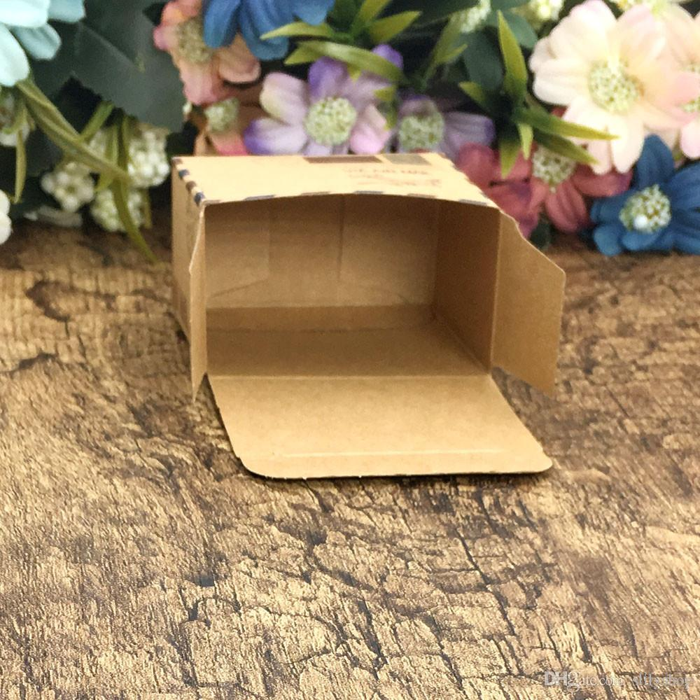 Vintage Favors Kraft Paper Candy Box Travel Theme Airplane Air Mail Gift Packaging Box Wedding Souvenirs scatole regalo