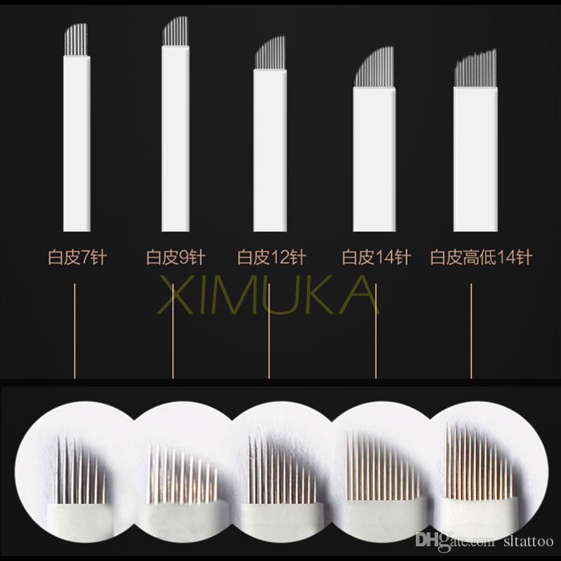 9 دبوس إبرة ماكياج الدائم شفرة الحاجب bladeTattoo أداة إبر microblading ل 3 D التطريز اليدوي الوشم زينة شحن مجاني