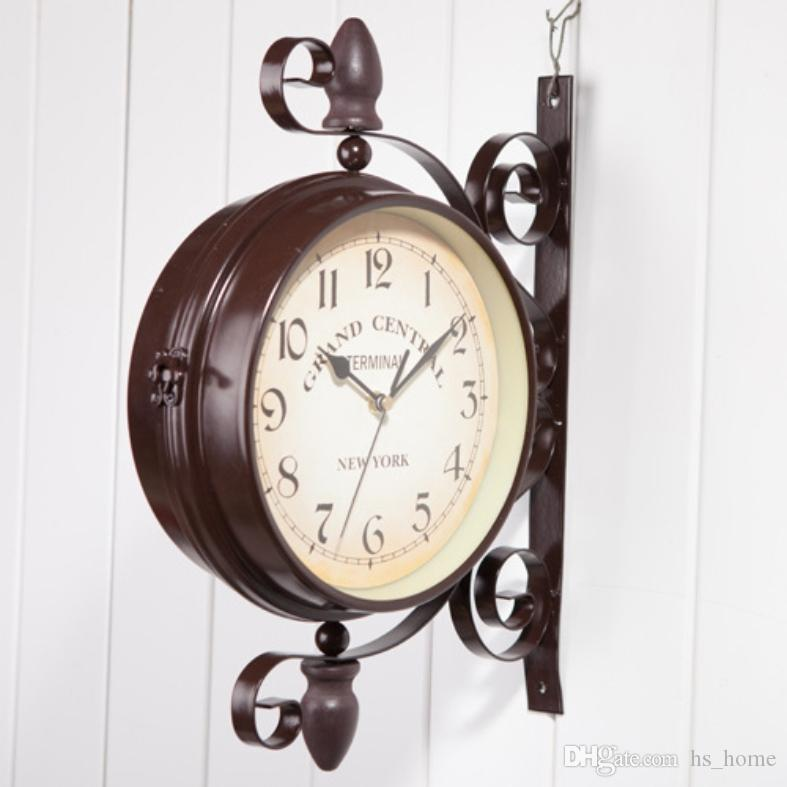 Iron Art And Home Garden Decoration, Clocks, Double Wall Clock ...