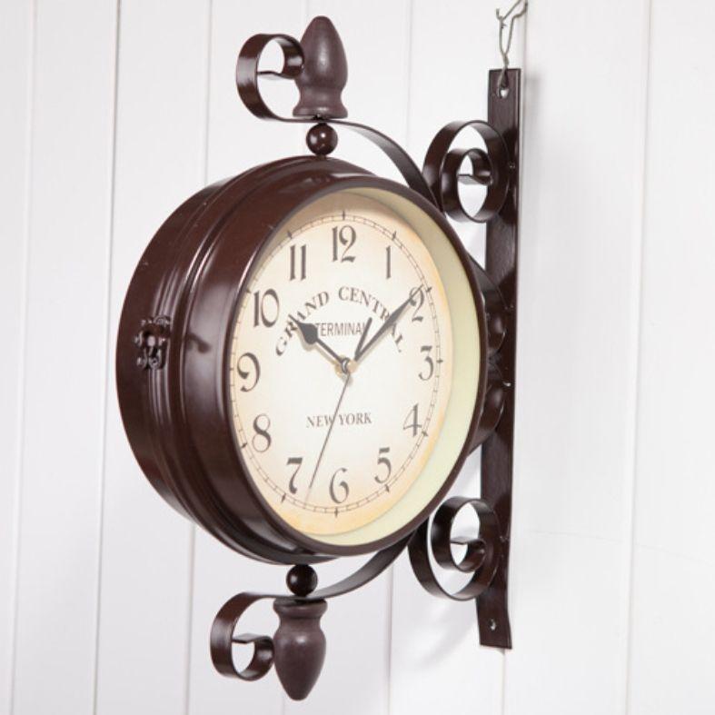 Iron Art And Home Garden Decoration, Clocks, Double Wall Clock, Classical  European Style, Garden Outdoor Decoration. Decor Wall Clocks Decorative  Bathroom ...
