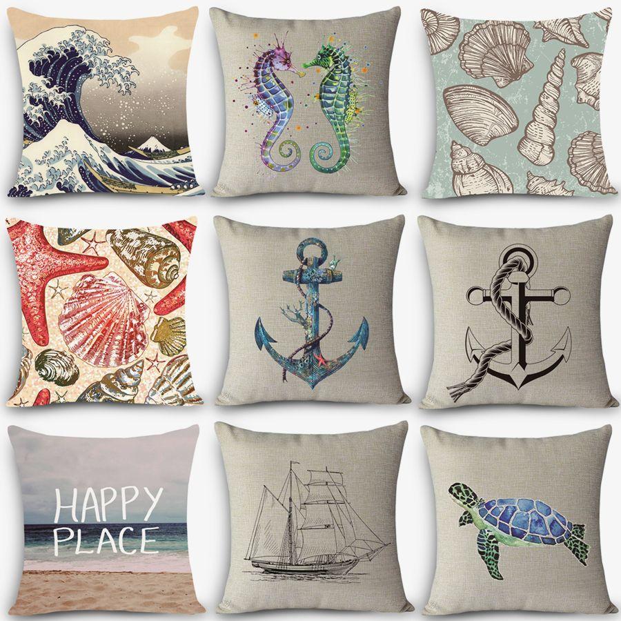 Wholesale New Arrival Pillow Sea Sailing Patterns Home Decorative ...