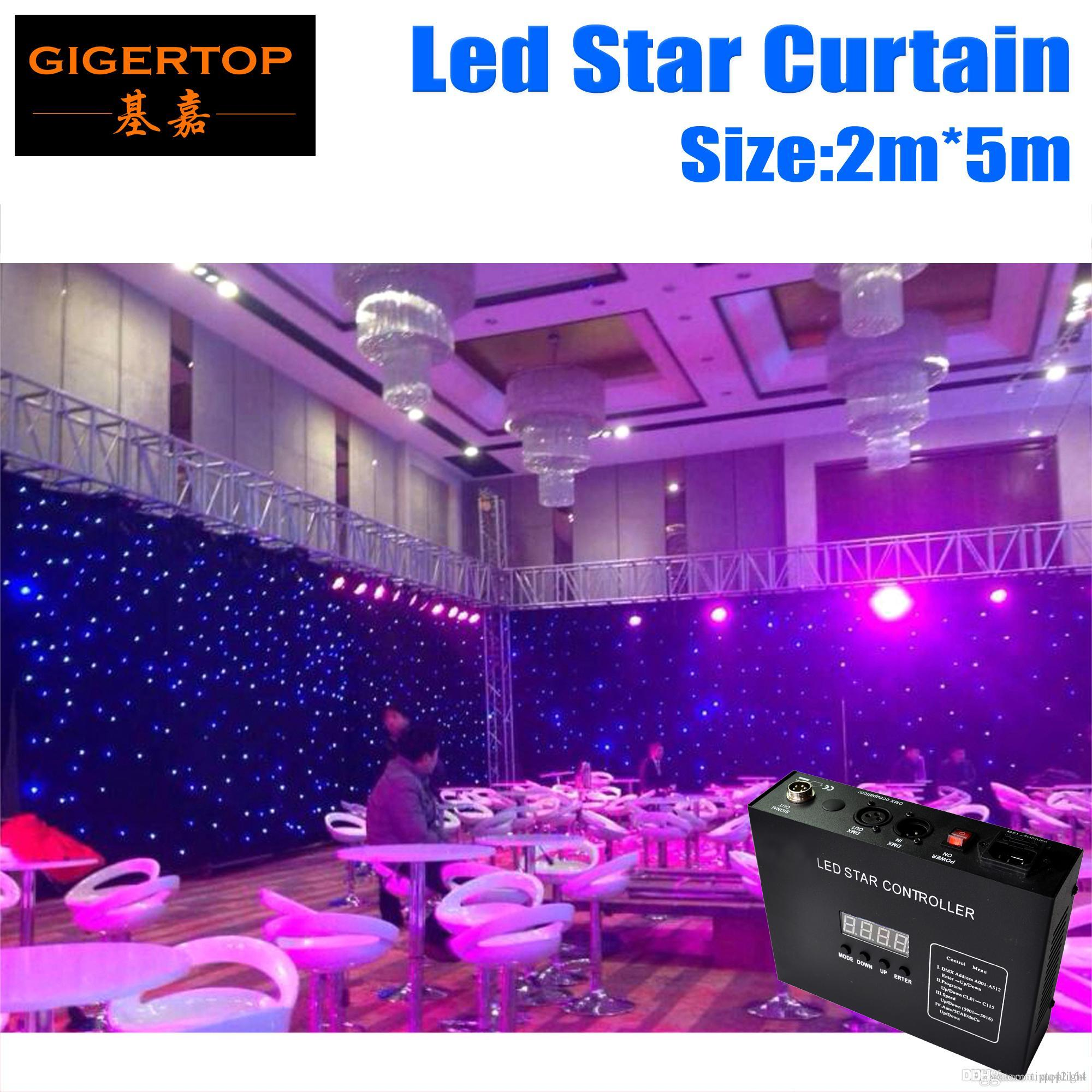 2M*5M&5M*2M High Quality RGBW/RGB Color Curtain,LED Star Cloth With Controller 90V-240V Light Curtain Fire-proof and Patent