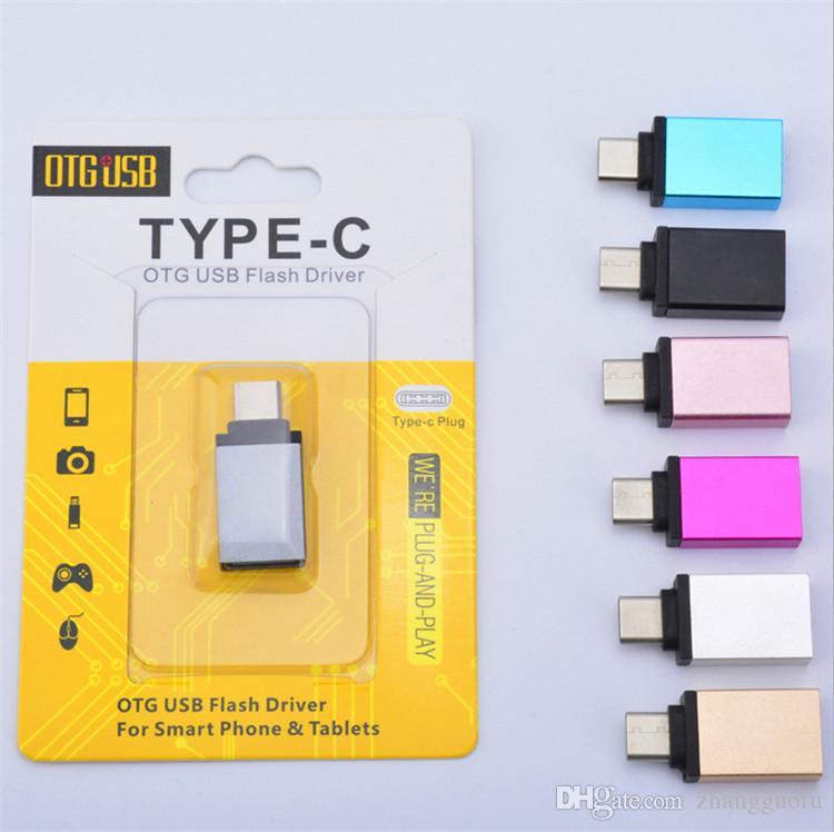 Type C Otg Usb Flash Driver Type C Otg Adapter Male To Usb