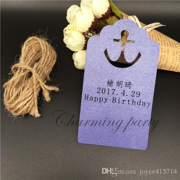 Personnalité Anchor souhait carte DIY partie décoration carte souhait arbre ornements suspendus carte fête événement décoration fournitures
