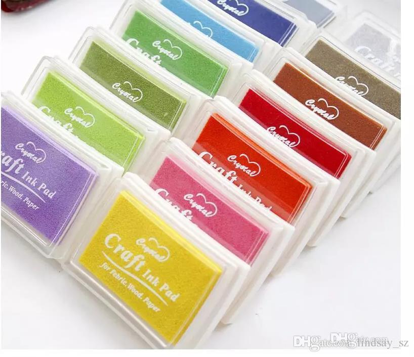 Dhl شحن مجاني 500 قطع متعدد الألوان 15 ألوان diy العمل النفط التدرج ختم مجموعة كبيرة كرافت الحبر الوسادة inkpad كرافت ورقة