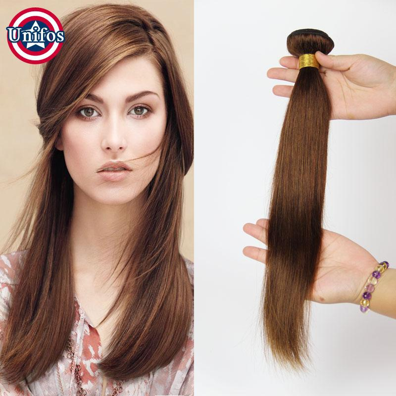 Cheap unifos light brown human hair extensions single bundle 34 pmusecretfo Choice Image