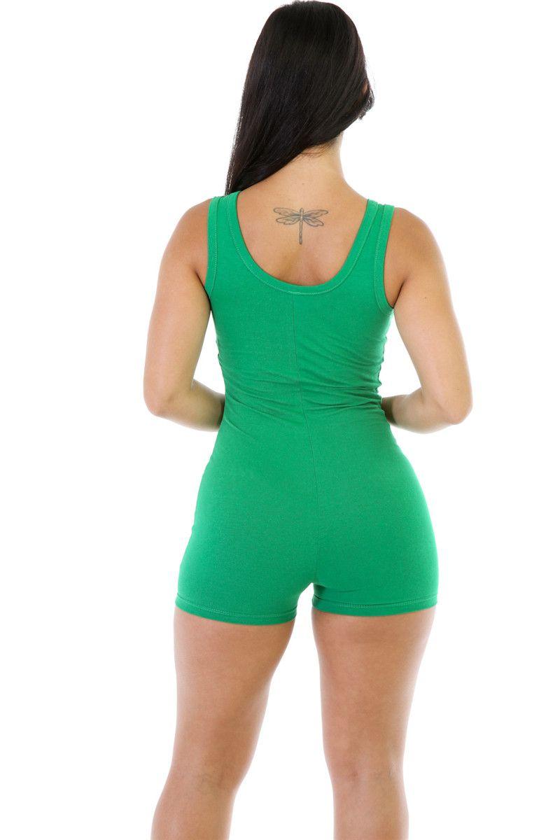 Jumpsuit For Womens 2017 Sexy Romper Bodysuit Bodycon Deep V Neck Short Pants Sleeveless Tank Sporting Clothing Feminino Playsuits
