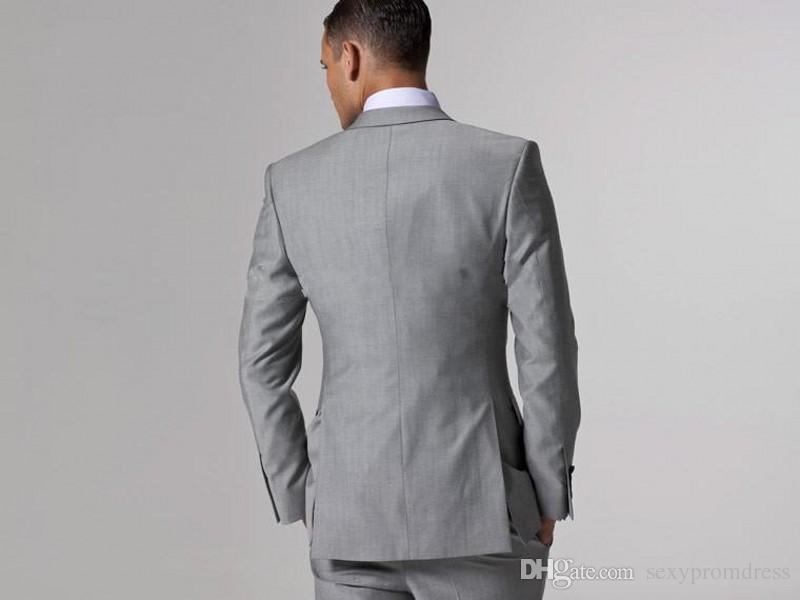 وسيم زفاف العريس البدلات الرسمية سترة + ربطة عنق + سترة + بنطلون الرجال الدعاوى مخصص البدلة الرسمية للرجال الزفاف bestmen البدلات الرسمية رخيصة 2016 -2017
