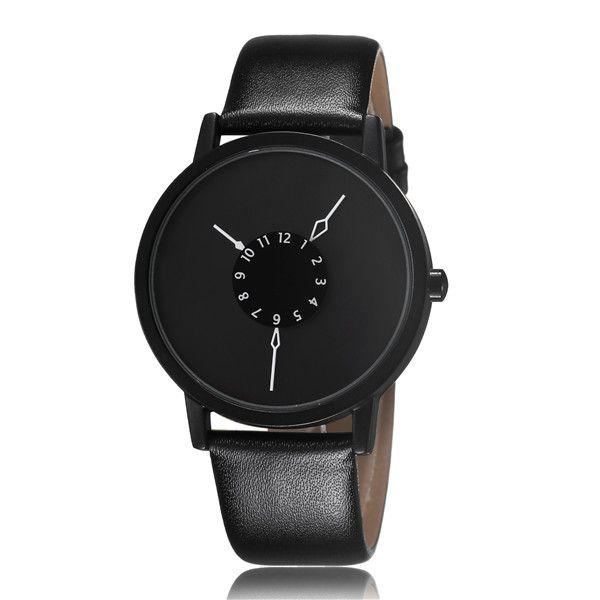 38935188cfc Compre Paidu Fashion Cool Design Único Quartz Relógio De Pulso Turntable  Relógio Preto Relógio Horas Mens Womens Gift Unisex Relogio Masculino De  Gaoshida