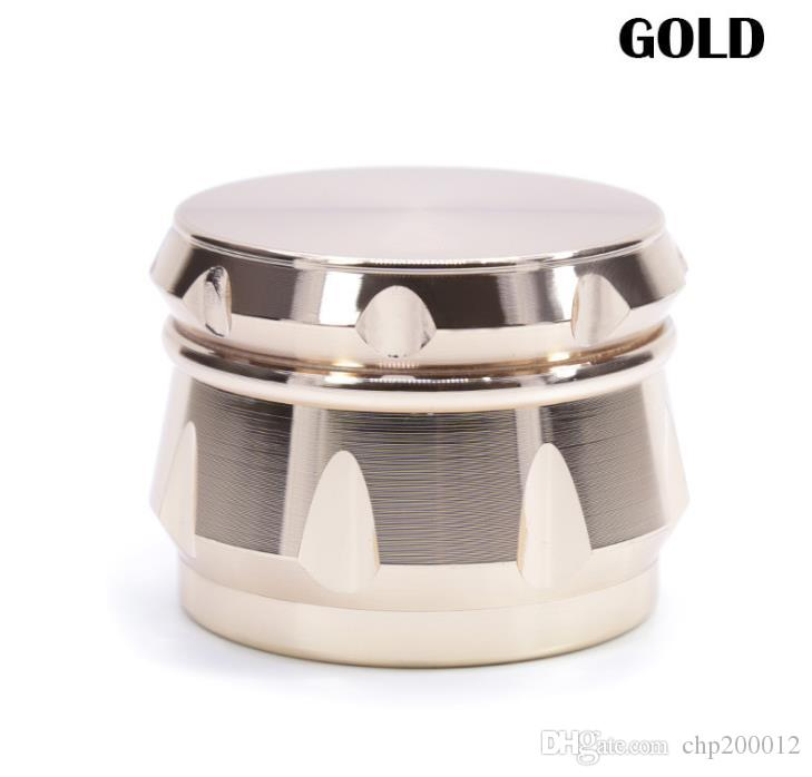 Aleación de zinc de cuatro capas en forma de diamante lado chaflán cóncava tambor tipo amoladora diámetro 63MM nuevos fumadores 5963