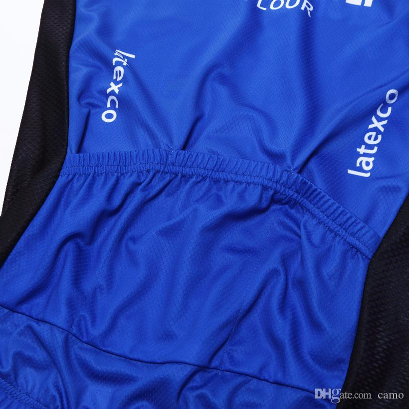 2017 QUICK STEP PRO TEAM BLUE SUMMER ONLY Sleeveless Vest Bicycle Bike Wear Cycling Jersey Size XS-4XL E04