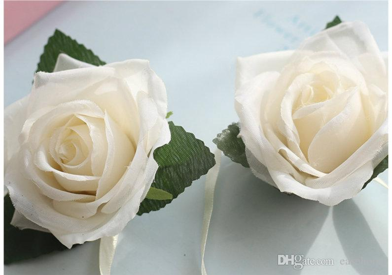 Artificial silk flowes manmade white rose flower heads for home and wedding decoration vivid and delicate