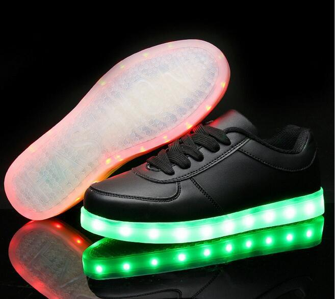 High Top Basket Light UP Shoe Mens Shoes Led Schoenen Women Casual Men Homme Luminous Femme Chaussures Lumineuse For Adults