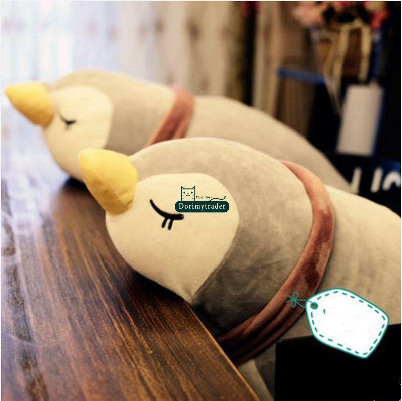 Dorimytrader pop güzel yalan hayvan penguen peluş yastık oyuncak dev dolması anime penguenler bebek karikatür yastık hediye 35 inç 90 cm DY61819