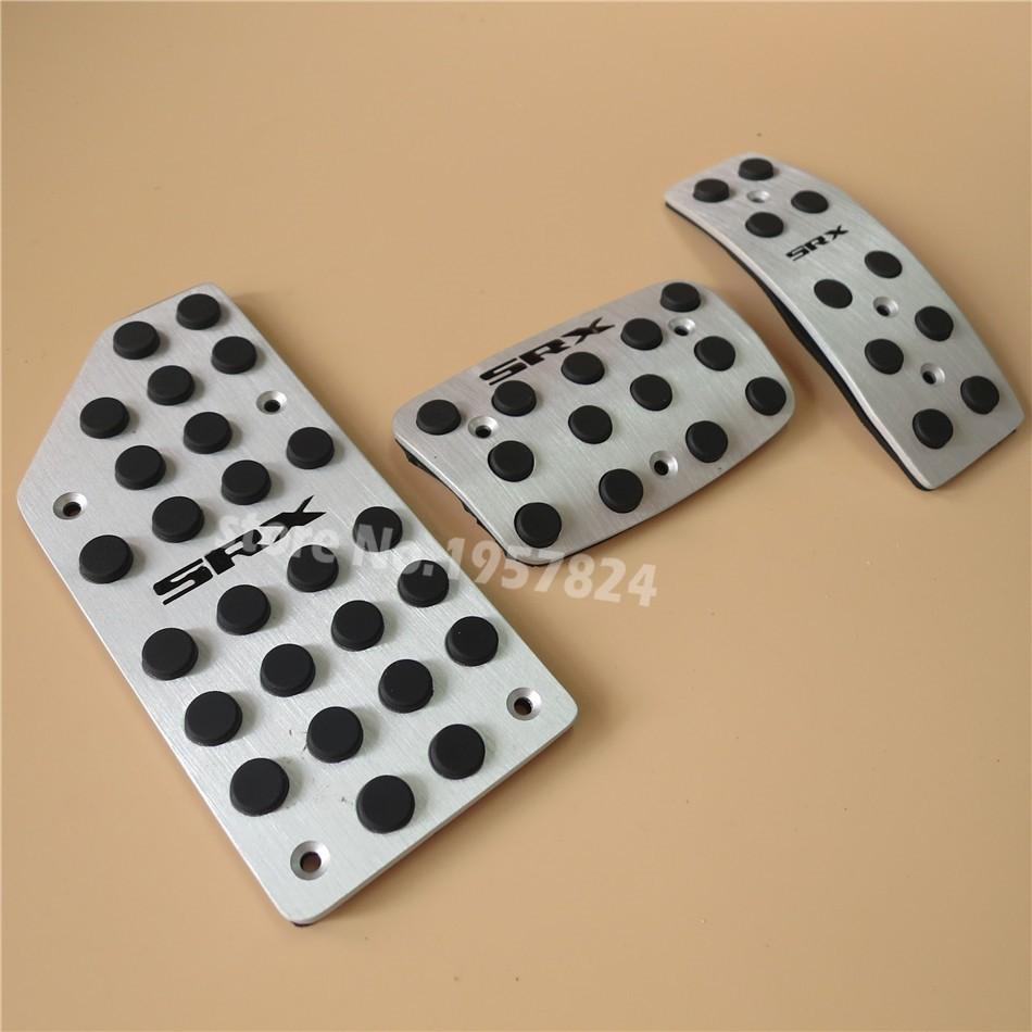 For Cadillac SRX Fuel Brake Foot Rest AT pedals Plate Non slip Accelerator brake pedal Pads,Car Styling 01