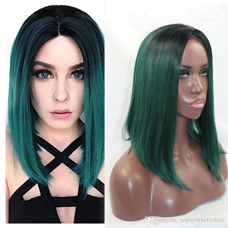 Cheveux noir au vert