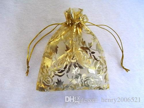 """Wholesale Gorgeous Organza 5""""x4"""" Gift Bags Organza Wedding Party Gift Jewellery Bags Pouches"""
