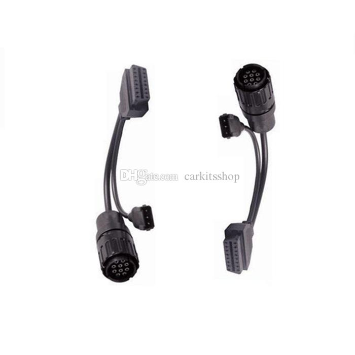 Carkitsshop New ICOM D Cable 10pin OBD to OBDII connector ICOM-D BMW Diagnostic Cable ICOM D module for Motorbike
