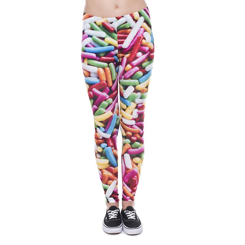 d8963e554 2019 Women Leggings Sprinkles 3D Graphic Print Lady Skinny Stretchy Yoga Wear  Pants Girls Workout Tight Capris Colorful Pattern Trousers J41606 From ...