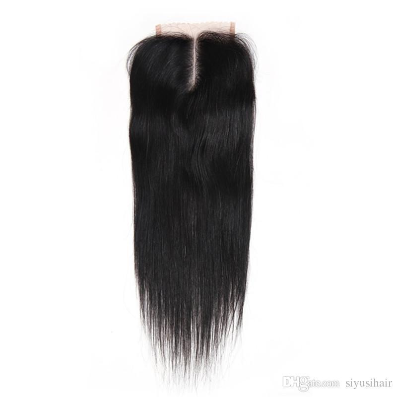 بيرو الماليزية الهندية البرازيلي العذراء مستقيم ينسج الشعر مع إغلاق 8a الشعر البشري مع إغلاق 3 أو 4 حزم مع إغلاق